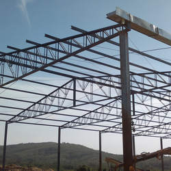 Estrutura de metal para telhado
