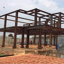 Estrutura de ferro para construção